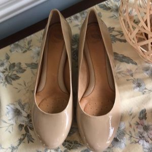 Nurture Nude Leather Wedges Perfect For Any outfit